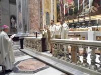 Colegiul Pontifical Pio Romeno participă la Liturghia Greco-Catolică la Altarul Sfântului Papa Ioan al XXIII-lea