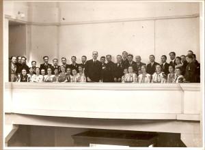 Corul credincioșilor români uniți, la inaugurarea Colegiului Pio Romeno, 9 mai 1937