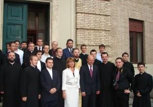 Vizita Președintelui României , Traian Basescu la Colegiul Pio Romeno, 2008