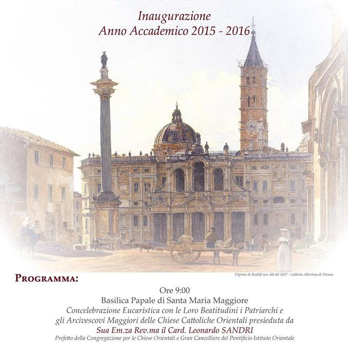 Inaugurarea noului an academic la Institutul Pontifical Oriental din Roma