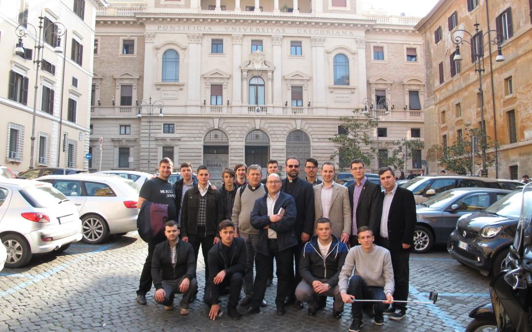 Vizita seminariștilor din Blaj la Universitățile Pontificale din Roma