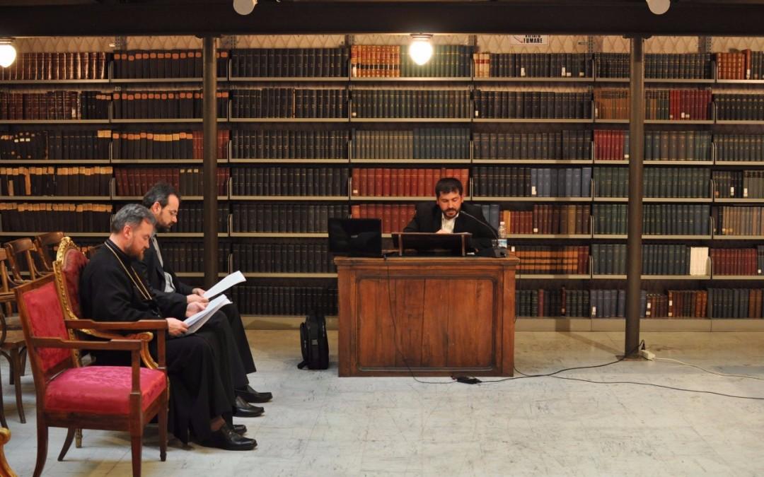Doctorat în Teologie Patristică la Institutul Pontifical Oriental