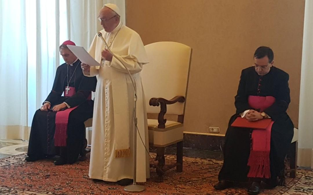 FOTO: Colegiul Pontifical Pio Romeno în audiență la Papa Francisc